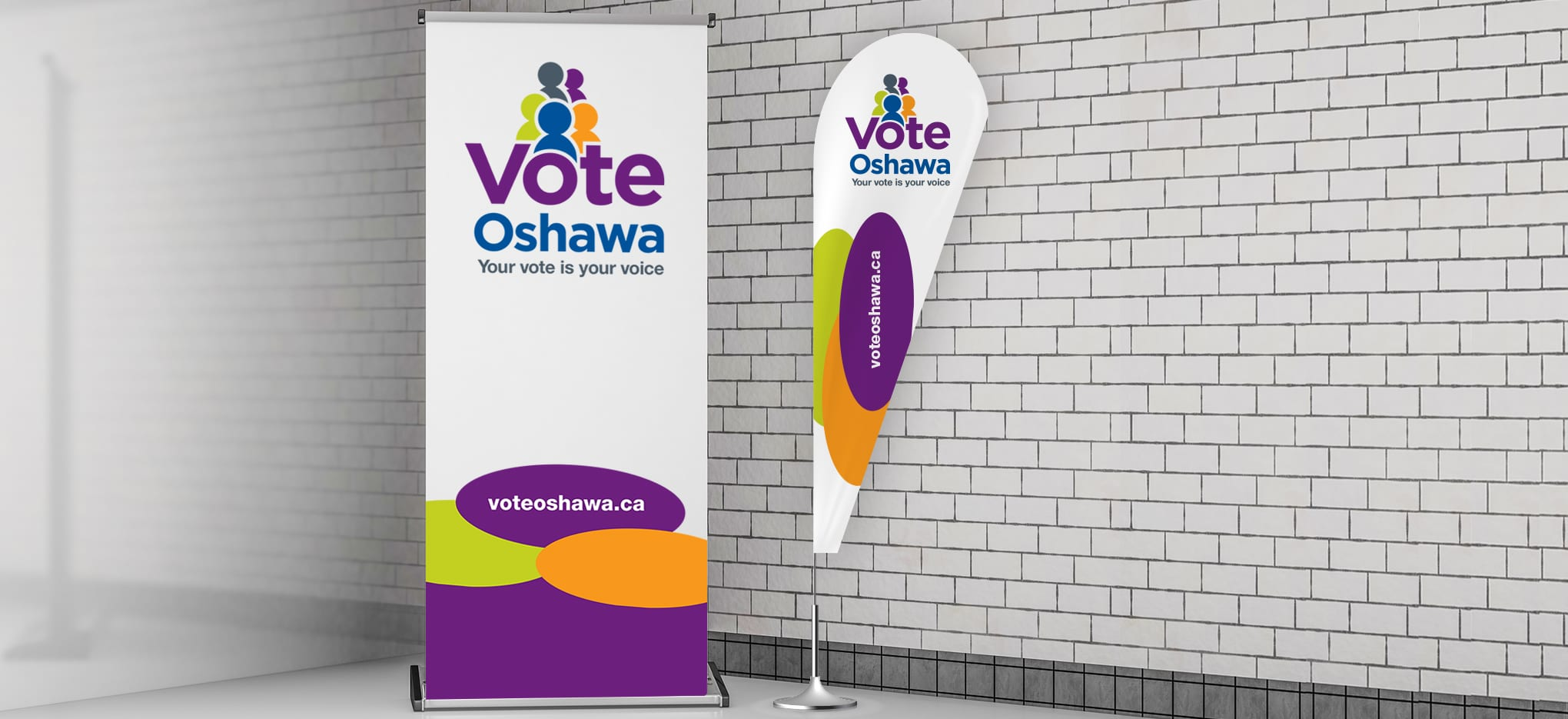 City of Oshawa Municipal Brand Banner Flag